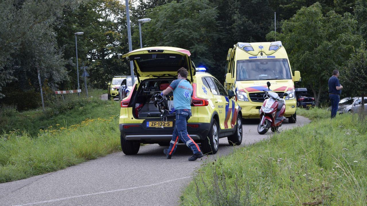 Scooterrijder gereanimeerd na ongeval