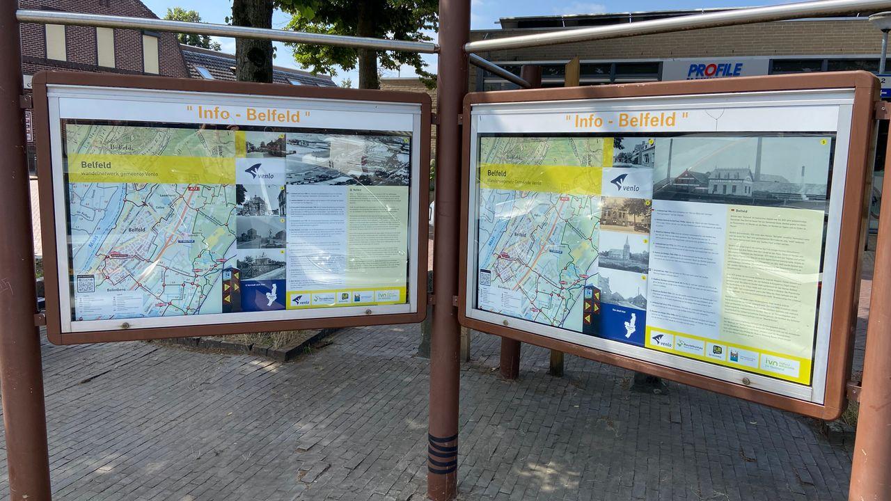 Informatieborden voor wandelaars in Belfeld