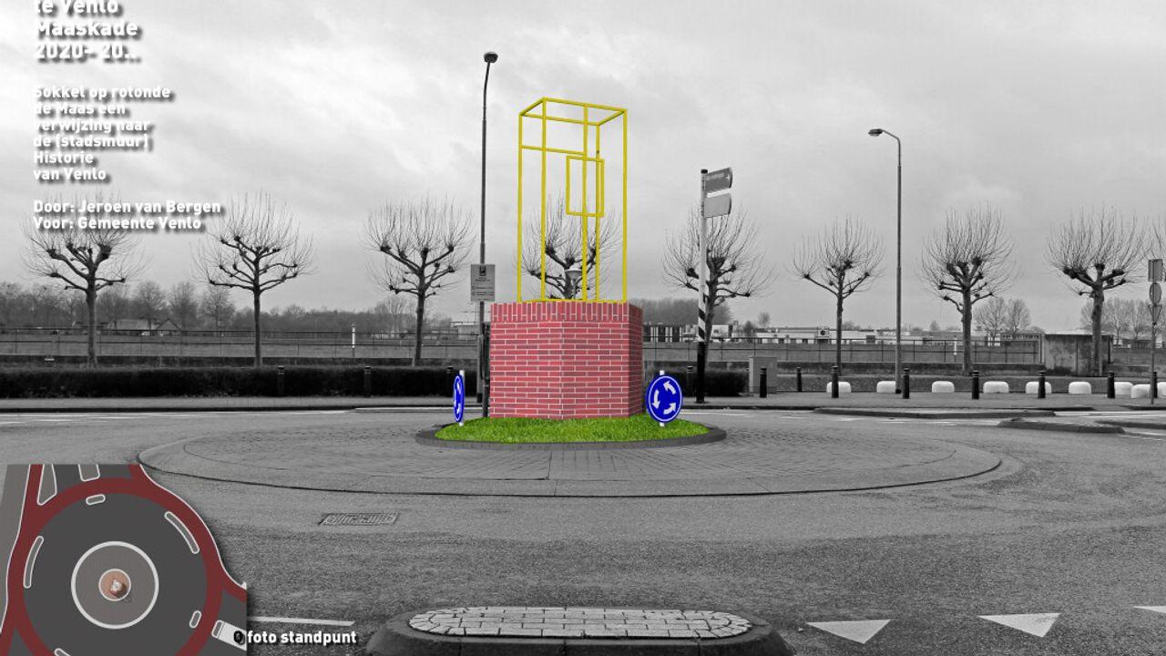 Rotonde in binnenstad krijgt Sokkel van Verbeelding