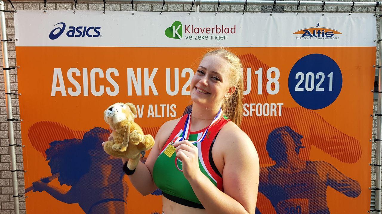 Audrey Jacobs Nederlands kampioen kogelslingeren