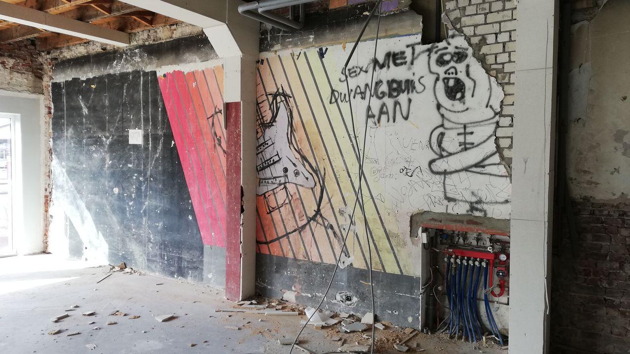 Oude muurschildering ontdekt in voormalig pand OOC