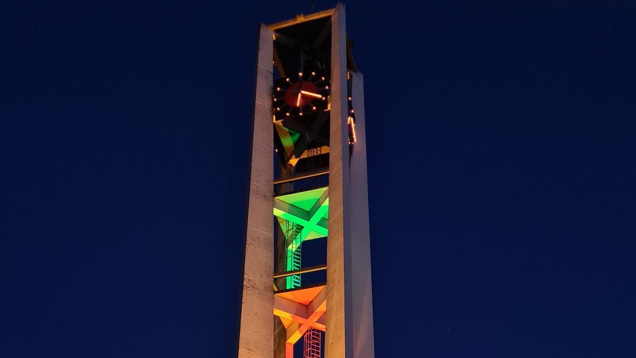 Toren Antoniuskerk in kleuren Wortelepin