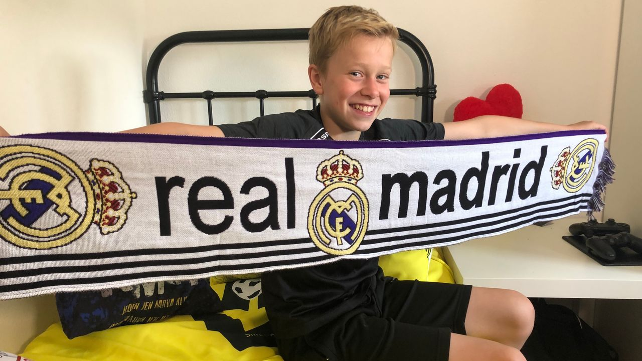 Daan (10) mag drie dagen meetrainen bij Real Madrid