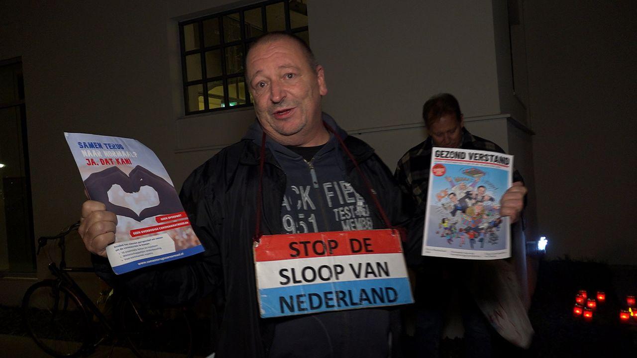 Protest tegen coronamaatregelen brengt nog weinig Venlonaren op de been